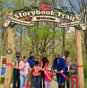 photo of storybook trail ribbon cutting ceremony
