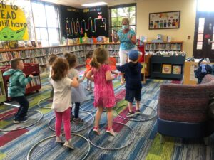 photo of children at library