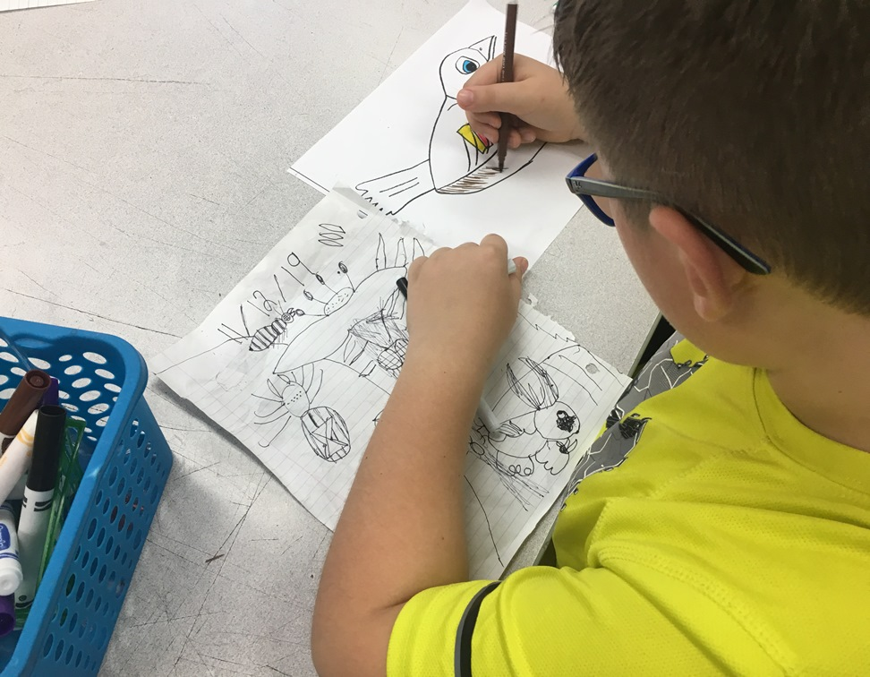 student photo of drawing