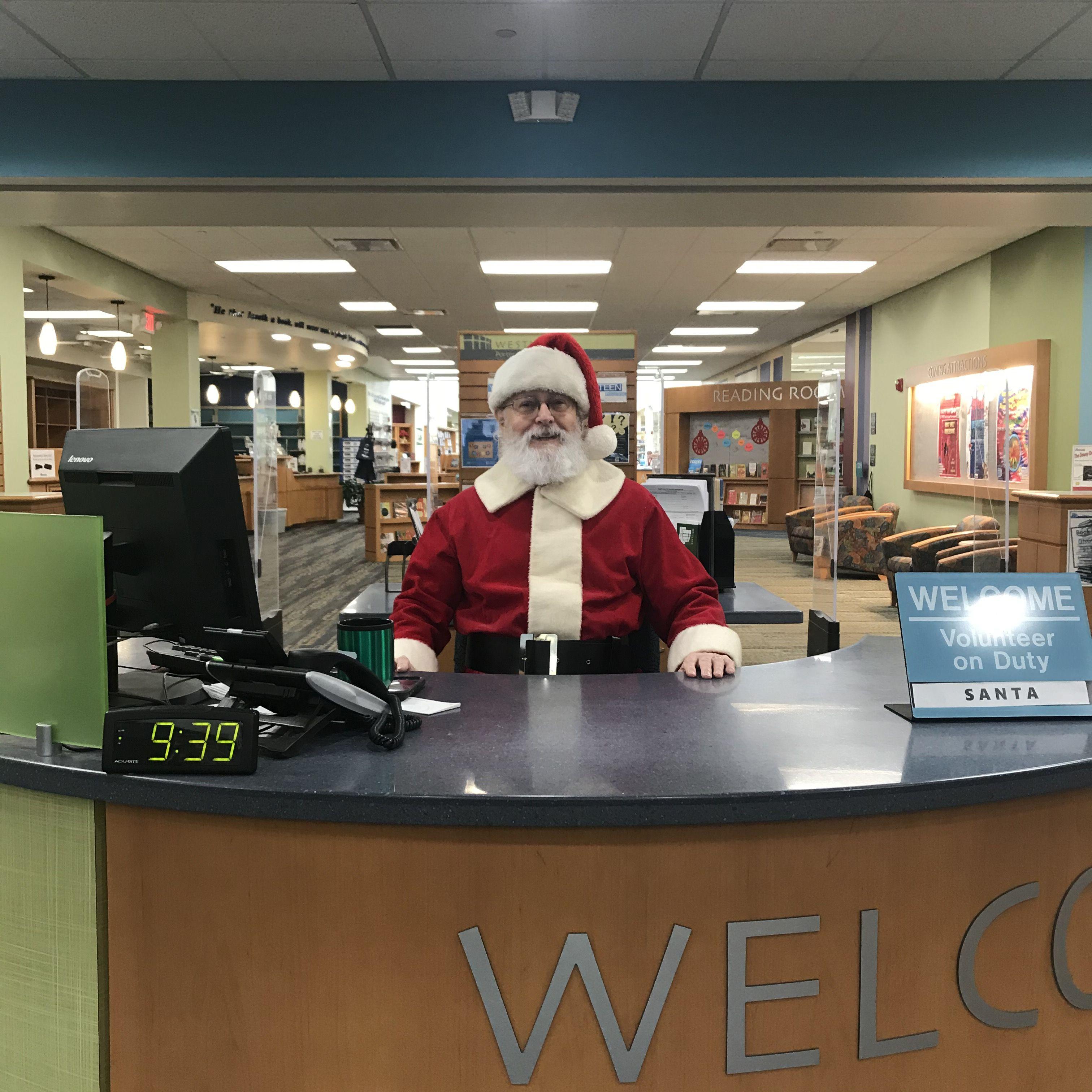 Santa at desk photo